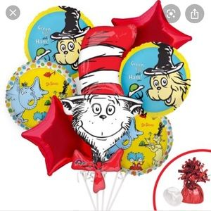 Dr.suess balloons bouquet
